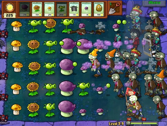 Tema: Juego Plants vs Zombies